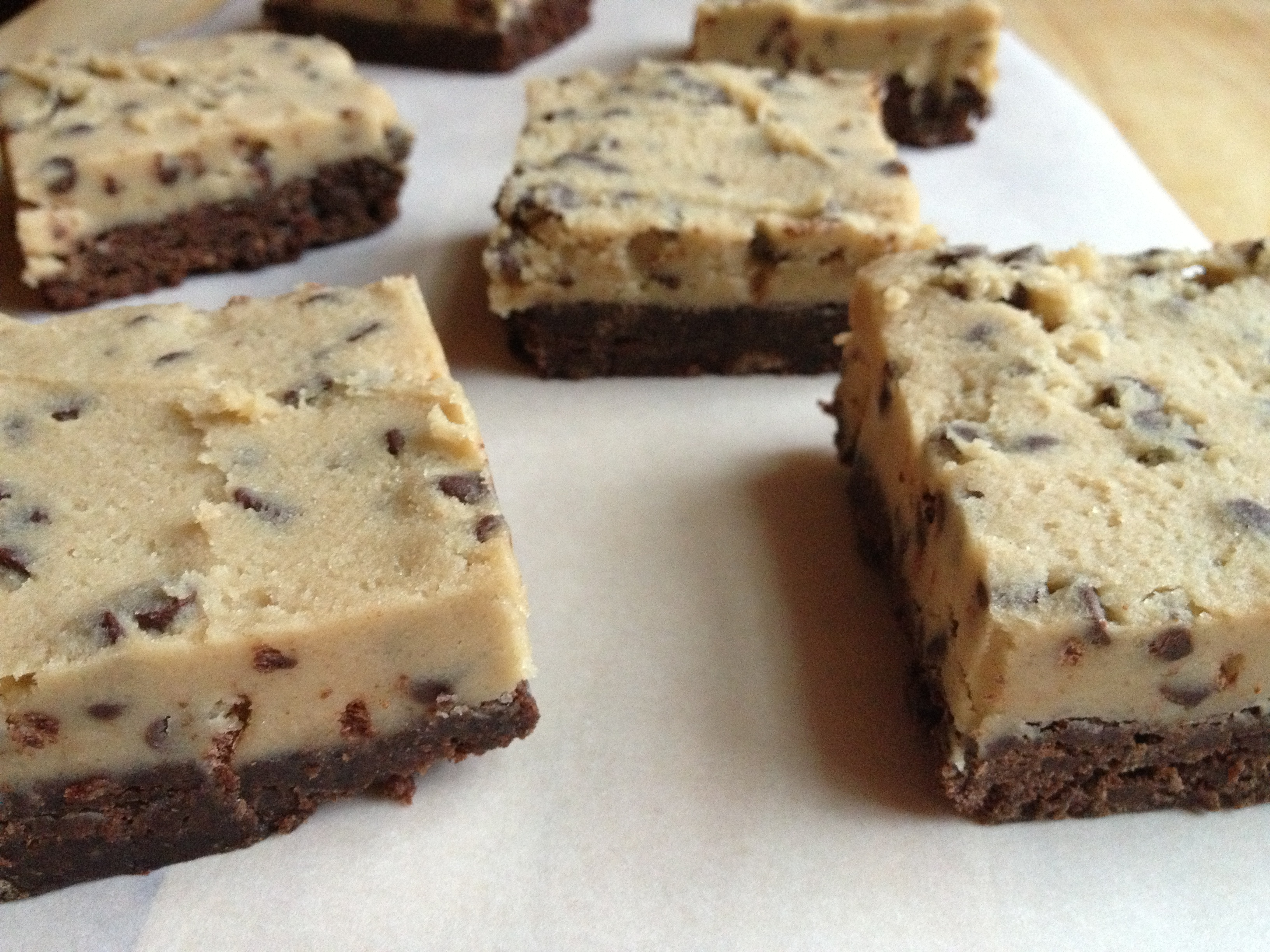 Chocolate Chip Cookie Dough Brownies Bake Not Burn