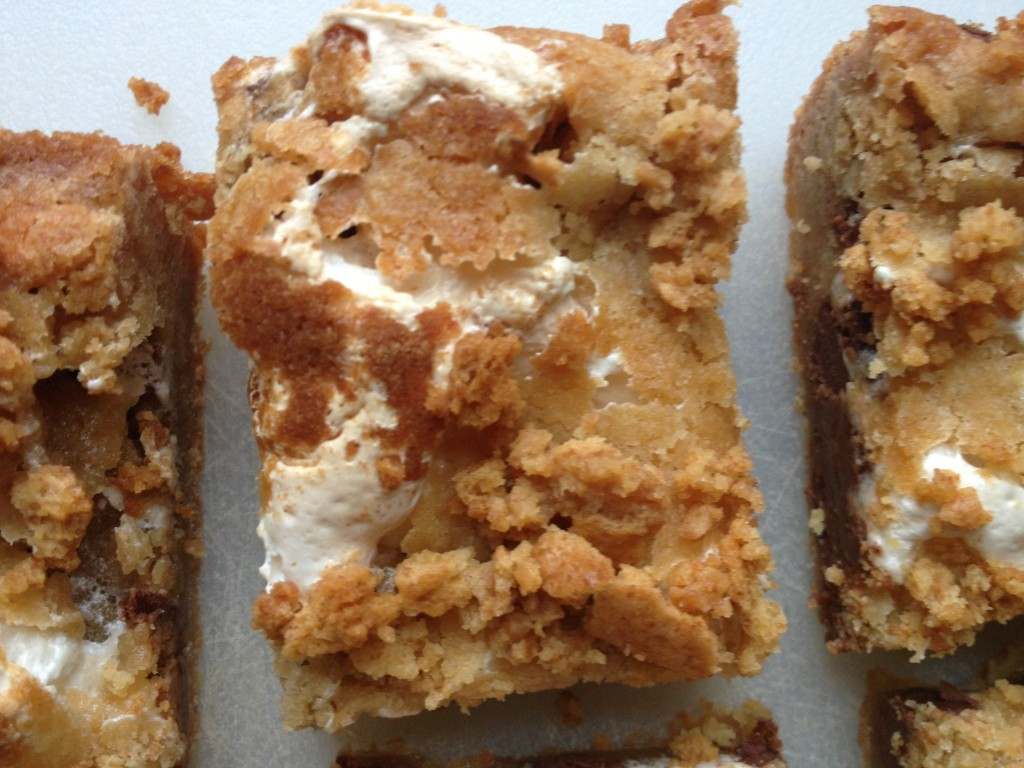 Peanut Butter Cup S'mores Blondies